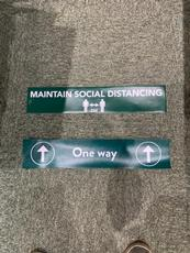 Visual marketing solutions. COVID-19 floor mats for offices 5
